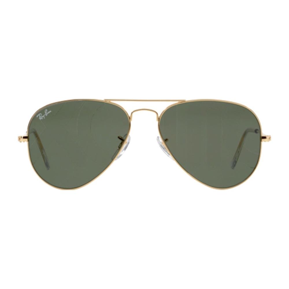 nuovi prodotti assolutamente alla moda cieco Occhiali da sole uomo donna RayBan Aviator 3025 W3234 Grigio Verde ...